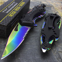 Rainbow Spring Assisted Tactical Folding Knife