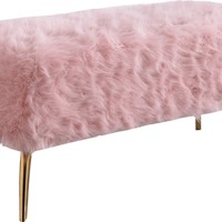 Tiffany Pink Fur Bench