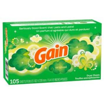 Gain Original Dryer Sheets, 105ct