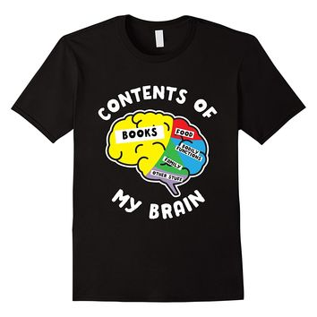 Contents Of My Brain Books T-Shirt