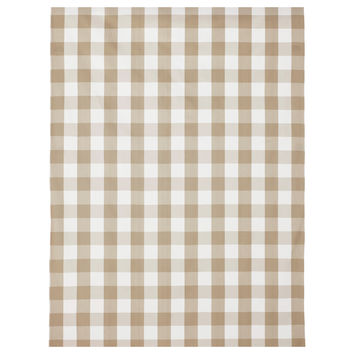 BERTA RUTA Fabric - big check/beige  - IKEA