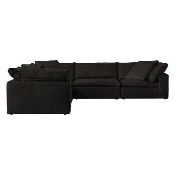 TAG by Tandem Arbor Dey 5-Seat L-Shape Sectional Set (5 PC) - Black