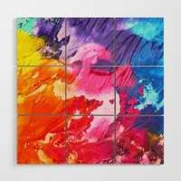 BRIGHT ABSTRACT PAINTING Wood Wall Art by digitaleffects