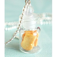Toasts in a Jar Necklace