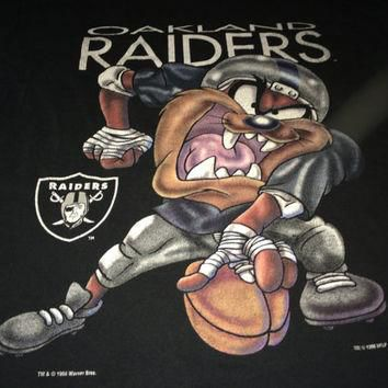 Sale!! Vintage OAKLAND RAIDERS casual black t shirt football NFL jersey cotton tops te