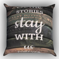Harry Potter Old Books Zippered Pillows  Covers 16x16, 18x18, 20x20 Inches