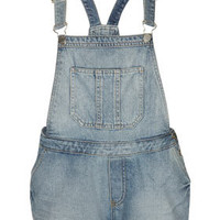 MOTO Bleach Denim Dungarees - Playsuits  - Clothing