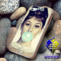 Audrey Hepburn Tiffany Blue Bubble Gum - Case For iPhone 6, iPhone 6+, samsung note 4, note 3,iPhone 5C Case, iPhone 5/5S Case, iPhone 4/4S Case, Samsung S5, Samsung S4, Samsung S3, iPod 5, iPad mini/2/3/4, air United States Case  (AQ)