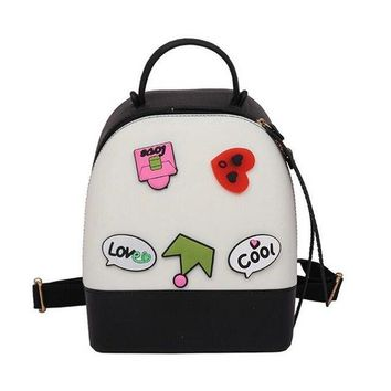 University College Backpack Candy color Fashion New Women  2017 Quality PVC Hit color Jelly Shoulder bag  style Sweet Cute Ladies AT_63_4