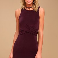 More than a Dream Plum Purple Bodycon Dress