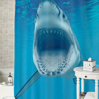 Shark special shower curtains that will make your bathroom adorable.