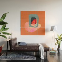 Modern minimal forms 43 Wood Wall Art by naturalcolors