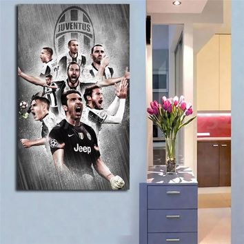Juventus Live Wallpapers New 2018 Wall Art Canvas Poster And Print Canvas Painting Decorative Picture For Living Room Home Decor