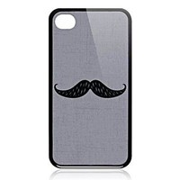 Busted Tees iPhone44S Art Case-Mustache
