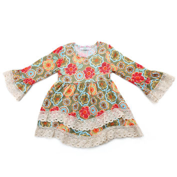 Little Girl's Floral Print Dress