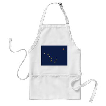 Apron with Flag of Alaska, U.S.A.