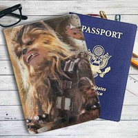 Chewbacca Star Wars Movie Leather Passport Wallet Case Cover