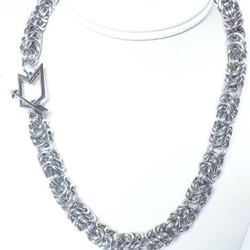 Arrow Chevron Aluminum Byzantine Chainmaille Necklace