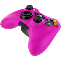 Hot Pink Silicone Skin Case Cover for Microsoft xbox 360