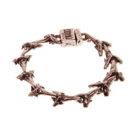 Light Pink Shark Tooth Tennis Bracelet