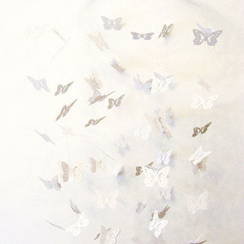 Butterfly mobile white - 3D effect