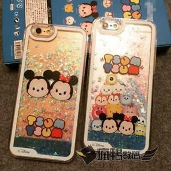 Dynamic Liquid Quicksand Tsum Mickey Hard Phone Case Cover For iPhone 6/6 plus