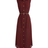 Long and Wine-ding Road Dress | Mod Retro Vintage Dresses | ModCloth.com