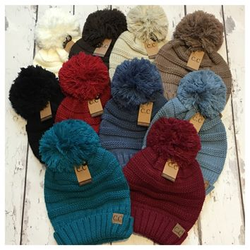 Simply Adorable Extremely Slouchy Pom CC Beanie