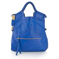 "Foley + Corinna Pebbled Leather ""Mid City"" Leather Tote at HSN.com"
