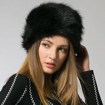 Winter Fashion Women's Hats Lady Fluff Cap Soft Warm Faux Fur Beanies Ear Protect Cute Casual Hat Headgear Headdress