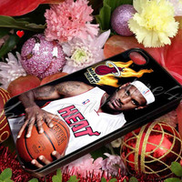 Lebron James Heat NBA Miami Heat Basketball - for iPhone 4/4s, iPhone 5/5s/5c, Samsung S3 i9300, Samsung S4 i9500 Hard Case