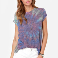 Obey Back Alley Nubby Tie-Dye Tee