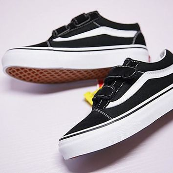 vans kids old skool v cl sneaker hook loop vn000vhe6bt