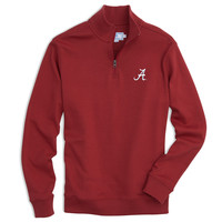 University of Alabama Gameday Skipjack 1/4 Zip Pullover in Crimson by Southern Tide