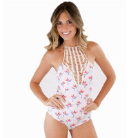 Bodysuit Bikini One Piece Swimsuit Summer Beach Hand-knitted Swimsuit