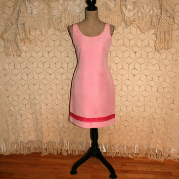 Pink Sleeveless Dress Sheath Dress Spring Dress Summer Dress Pink Linen Dress Pink Dress Ann Taylor Size 8 Dress Size Medium Women Clothing