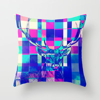 Cubist / Deer Throw Pillow by Maioriz Home