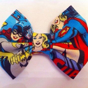 Wonder Woman Supergirl and Batgirl Small Fabric by StylishGeek