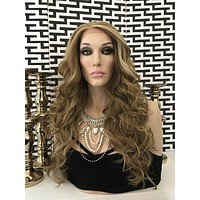 """Clover Balayage Multi Parting Human Hair Blend Lace Front Wig 24"""""""