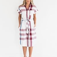 Playful Plaid Button Up Dress - JessaKae