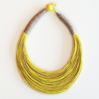 Yellow  Sunny Statement Necklace