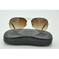 Ray Ban RB 3449 Sunglasses 001/13 Gold Aviator Brown Gradient lenses 59mm