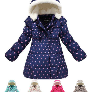 Girls Cute Parka Thick Winter Warm Coat