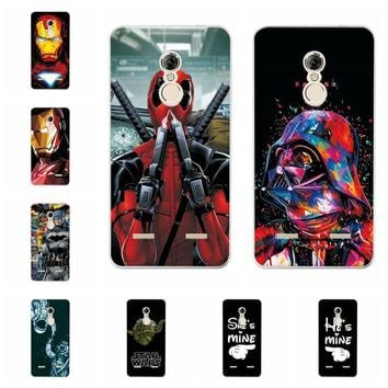 "Deadpool Dead pool Taco Charming  Cases Coque For Lenovo K6 K33a42 iron Man Soft Silicone Phone Case For Lenovo K6 Power Back Cover Capa 5.0"" AT_70_6"