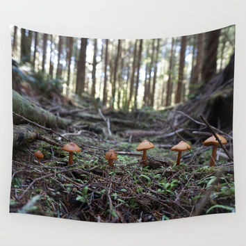 Forest Fungus Wall Tapestry by BravuraMedia