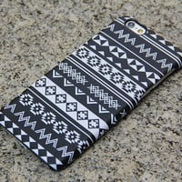 Black White Tribal iPhone 6 Case iPhone 6 plus Ethnic iPhone 5S 5 5c iPhone 4S/4 Case Aztec Samsung Galaxy S6 edge S6 S5 S4 Note 3 Case 024