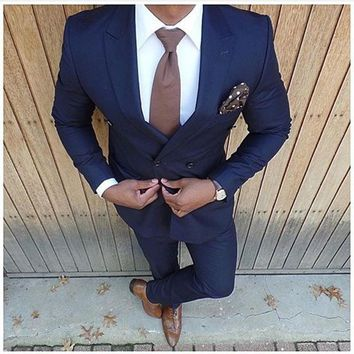 Men's 2 Piece Business Suit (Jacket+Pants) Up To 6XL