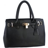 MG Collection HESSA Décor Lock Office Tote Handbag