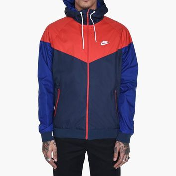 KUYOU Nike Windrunner Jacket (Obsidian/University Red)