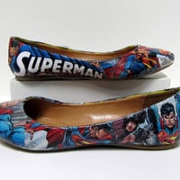 Superman Comic Book Flats - Made to Order